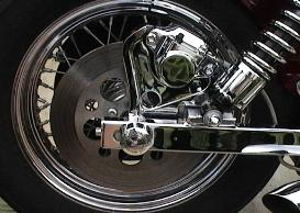Chrome Rear Caliper and Bracket