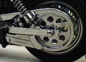 Chrome Swingarm and Sprocket